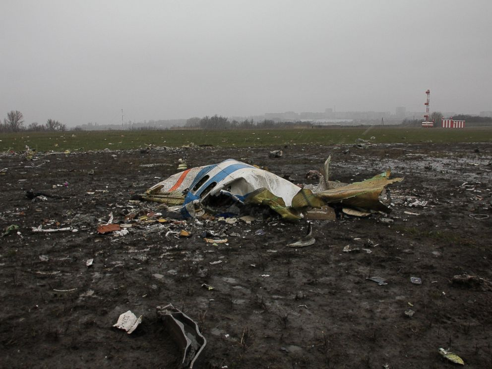 FlyDubai crash: Aerials show devastation of plane crash in Russia