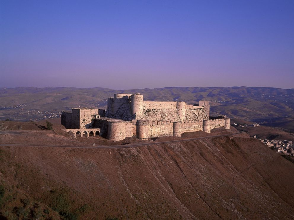 PHOTO:Krak Des Chevaliers is pictured in this undated file photo in Homs, Syria, before the start of the civil war.