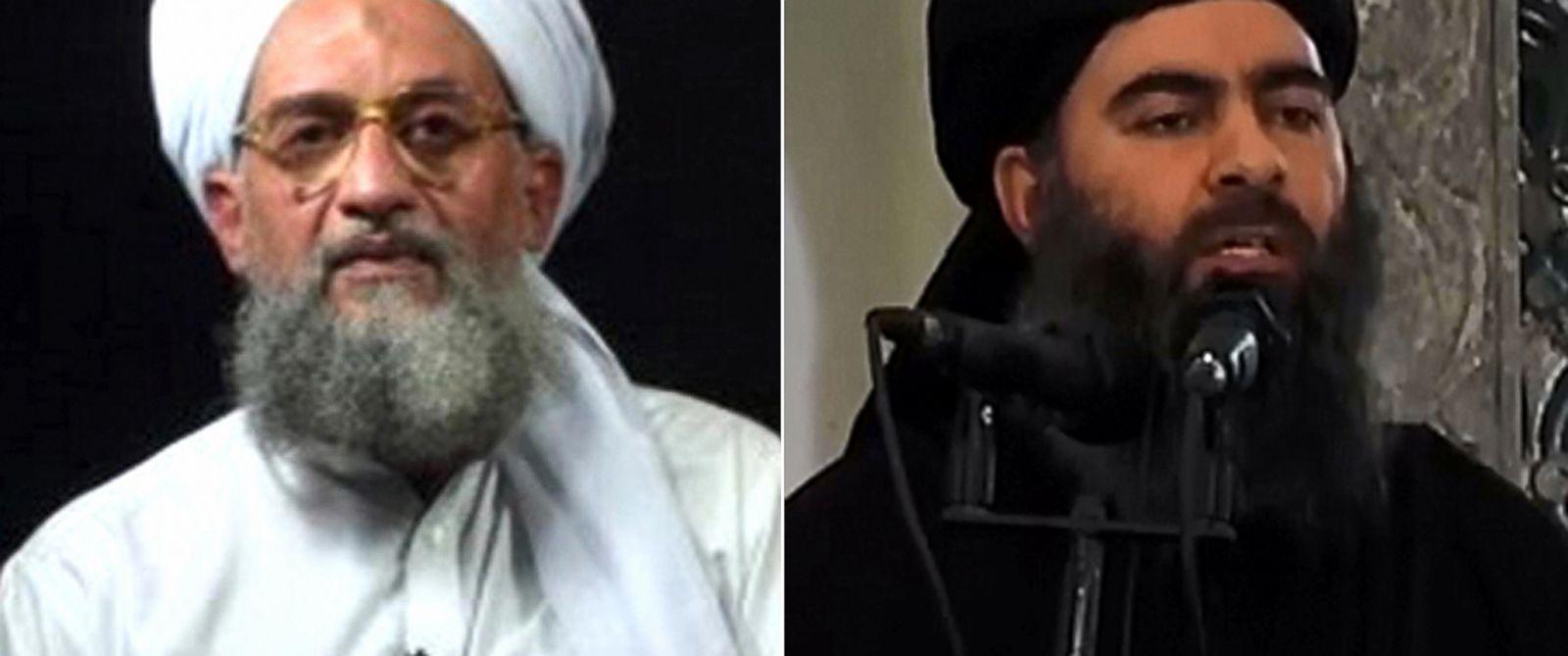 PHOTO: Ayman al-Zawahiri   Abu Bakr al-Baghdadi