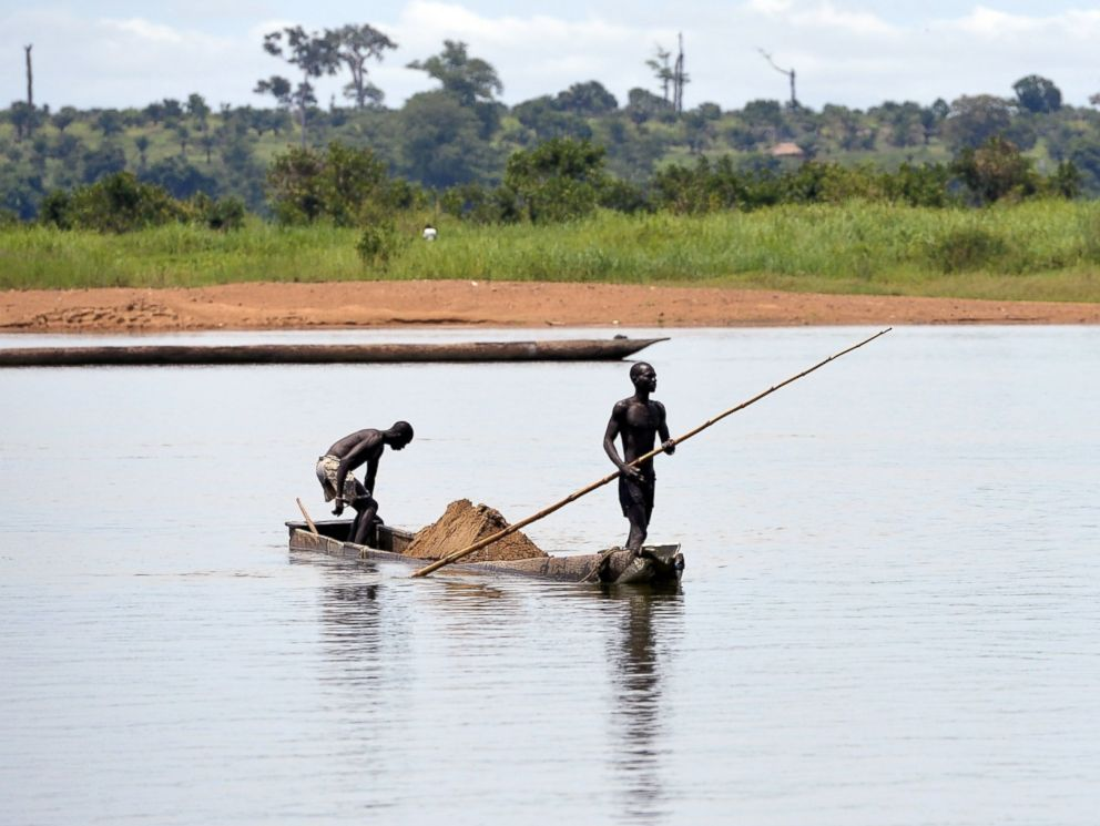 PHOTO: The Ubangi River, located near the Ebola River, is pictured on April 12, 2014.