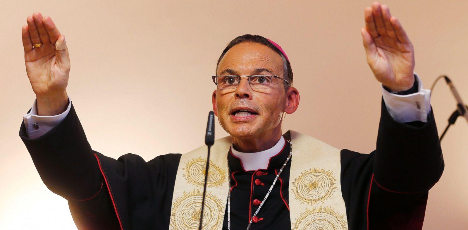 PHOTO: The Bishop of Limburg Franz-Peter Tebartz-van Elst blesses a new Kindergarden in Frankfurt, Germany, Aug. 29, 2013.