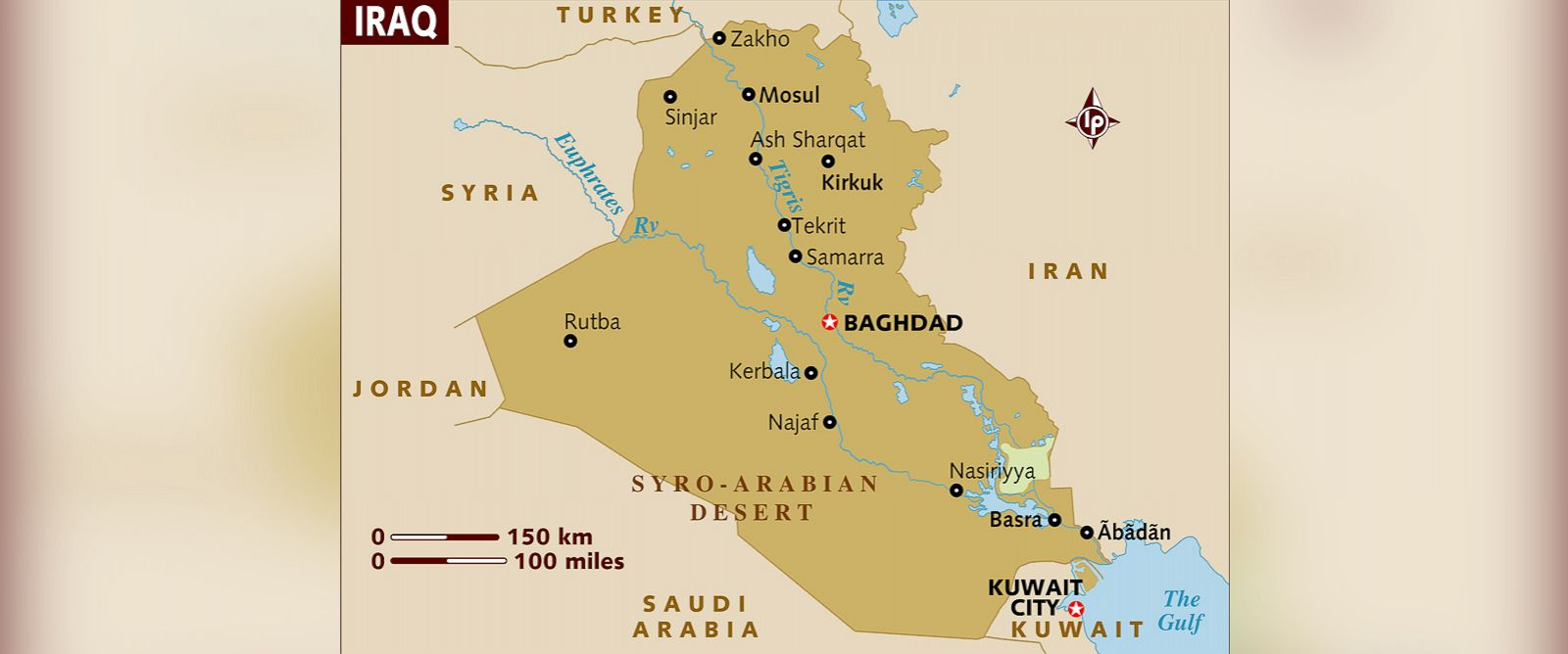 PHOTO: A map of Iraq is shown in this undated stock image.