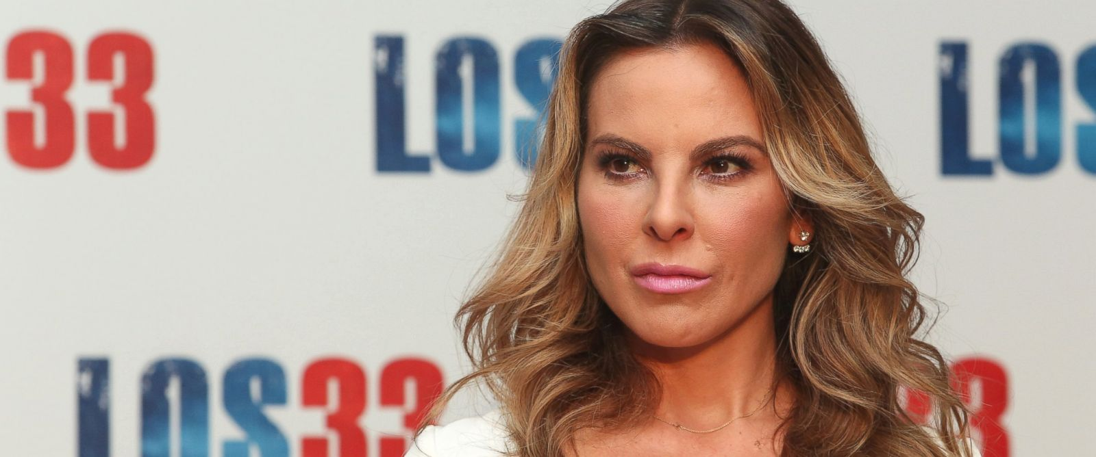 """PHOTO: Kate del Castillo is seen at the """"Los 33"""" press conference at Four Seasons hotel on Aug. 24, 2015 in Mexico City."""
