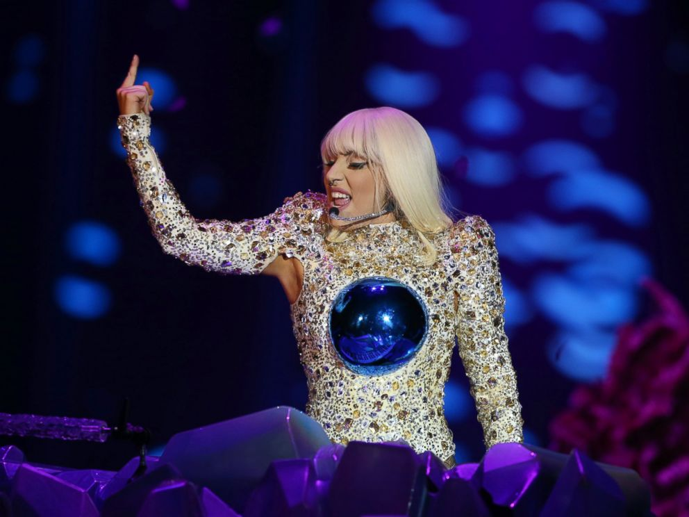 PHOTO: Lady Gaga performs on stage during the artRave: The Artpop Ball Tour at Perth Arena, Aug. 20, 2014, in Perth, Australia.