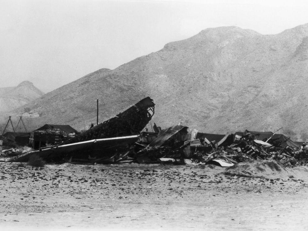 PHOTO: American B-52 plane crash in Palomares, Spain, 1966.