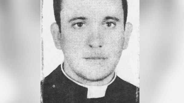PHOTO: In this picture taken in 1973 and released by journalist Sergio Rubin, then priest Jorge Mario Bergoglio, actual Cardinal and Archbishop of Buenos Aires, Argentina, posse for a picture.