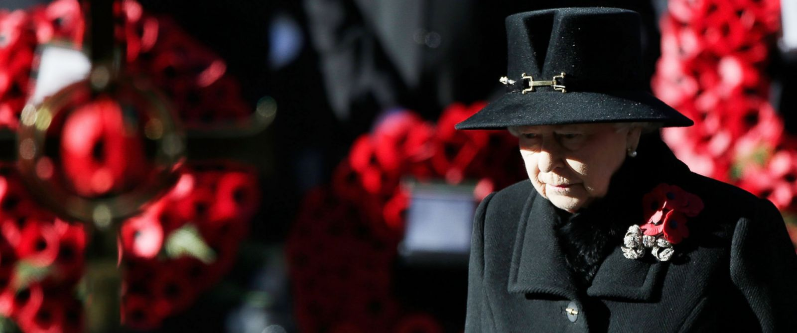 PHOTO: Queen Elizabeth II stands in front of the Cenotaph during a wreath laying ceremony on Whitehall on Nov. 10, 2013 in London.