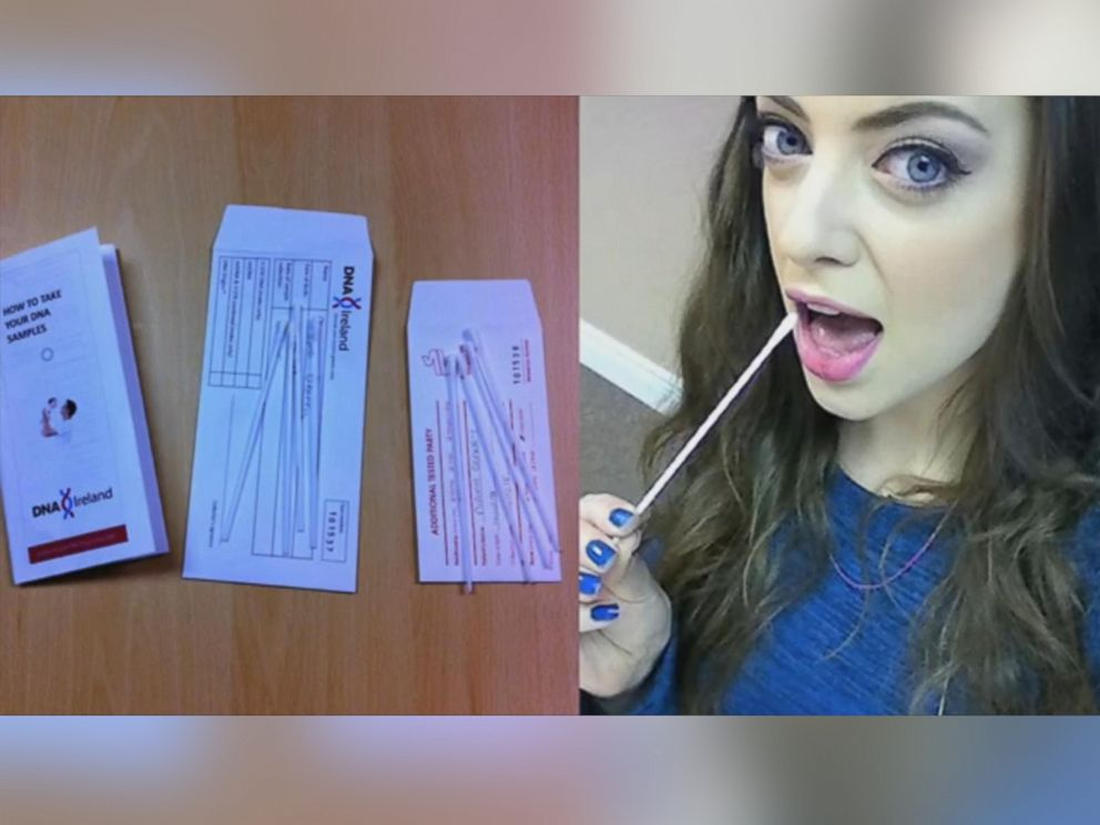 PHOTO: Niamh Geaney, 27, is seen here taking a DNA test at DNA Ireland.
