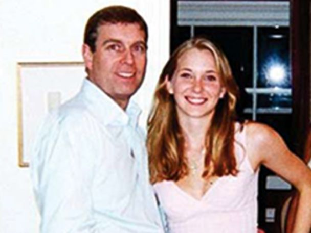 PHOTO: A woman who alleges in court papers that she was an underage sex slave for VIPs including Britain's Prince Andrew is seen pictured here with the prince.