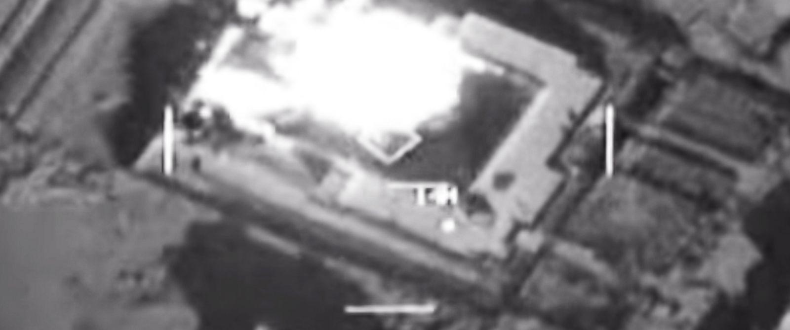 PHOTO: ISIS storage facility near Abu Kamal, Syria, struck by U.S. strike aircraft Sept. 23, 2014.