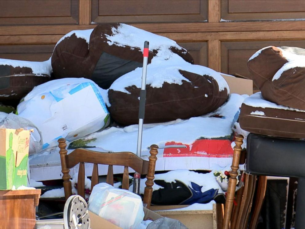 PHOTO: A married couple from Ottawa, Canada, said they woke up on March 2, 2016, to find the entire contents of a strangers home on their driveway.