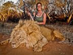 PHOTO: Melissa Bachman posted this photo of herself with a dead lion on Facebook.