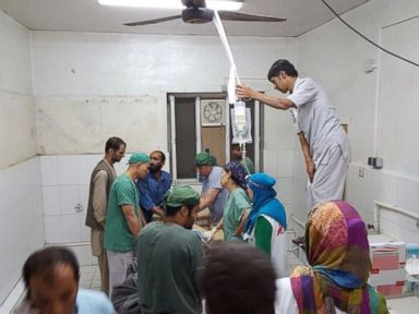PHOTO: @MSF_Press posted this photo to Twitter on Oct. 3, 2015 with the caption, Surgery activities underway this morning in the aftermath of the bombing of #MSFs #Kunduz hospital #Afghanistan.