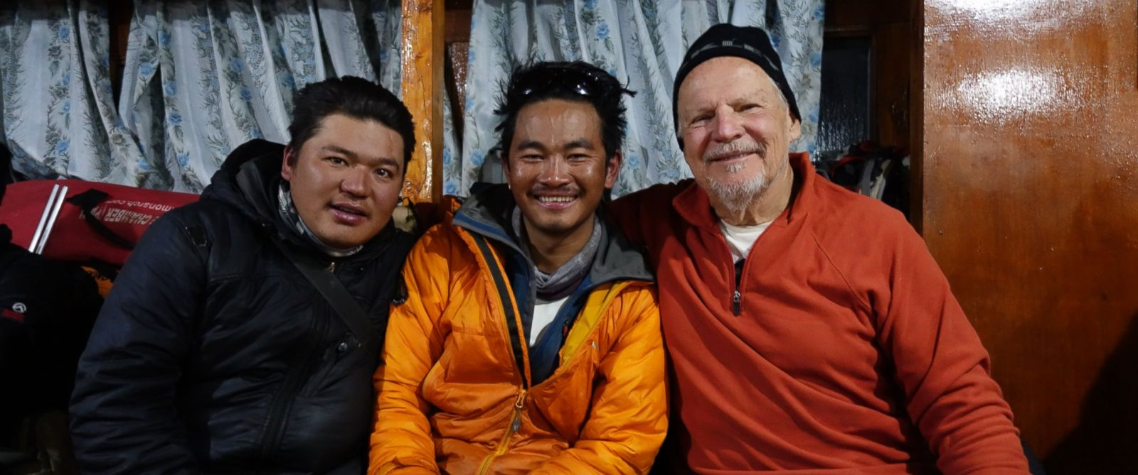 PHOTO: Climber Ed Marzec, right, with Ash Gurung, left, a Sherpa who was killed in Fridays avalanche.