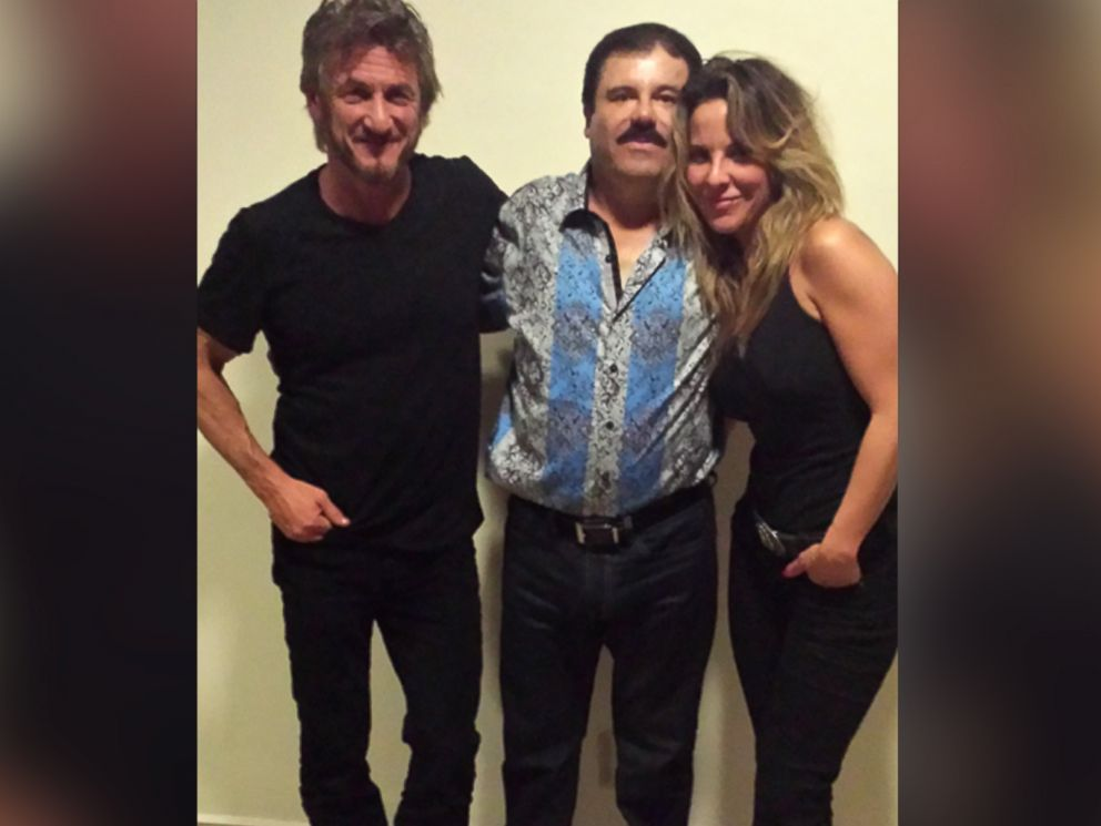 PHOTO: Actor Sean Penn and actress Kate del Castillo are pictured together with notorious Mexican drug kingpin Joaquin El Chapo Guzman during their meeting.