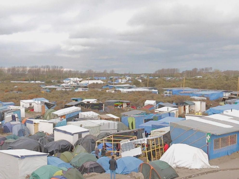 PHOTO: ABC News spent a day with migrants and refugees in Calais, northern France.