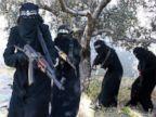 PHOTO: Members of the al-Khansaa Brigade, ISIS all-female unit operating in Raqqa, Syria.