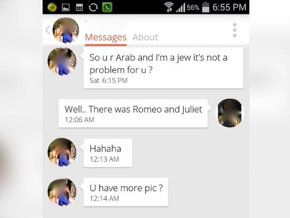 PHOTO: Excerpts of conversations purportedly from online daters in the Middle East.