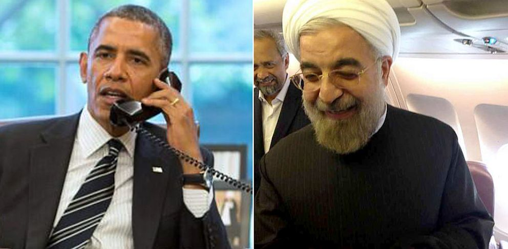 PHOTO: U.S. President Barack Obama and Iranian President Hassan Rouhani.
