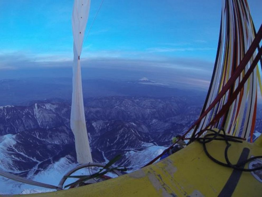 PHOTO: This photo shows the view as the pilots of Two Eagles Balloon team flew over Japan