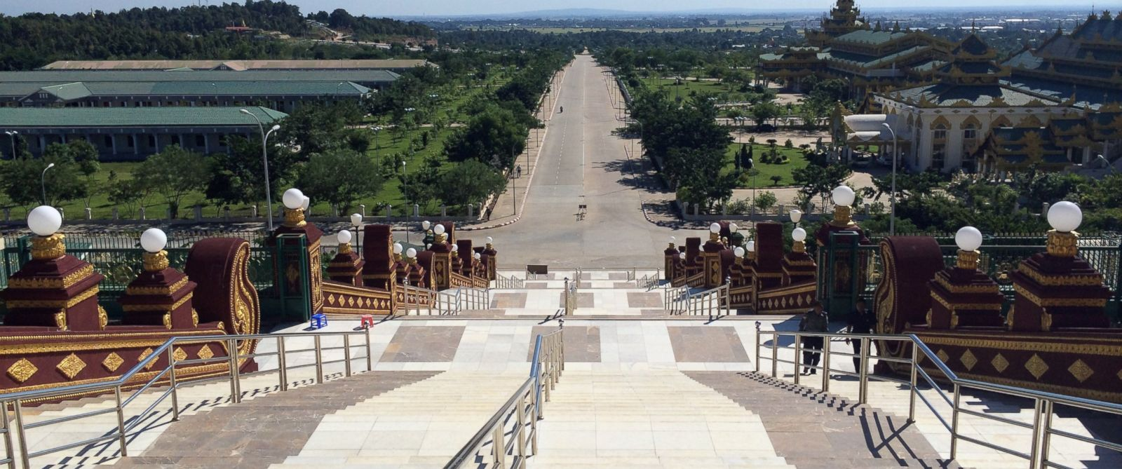 PHOTO: Few people can be seen in Naypyidaw, Myanmar.