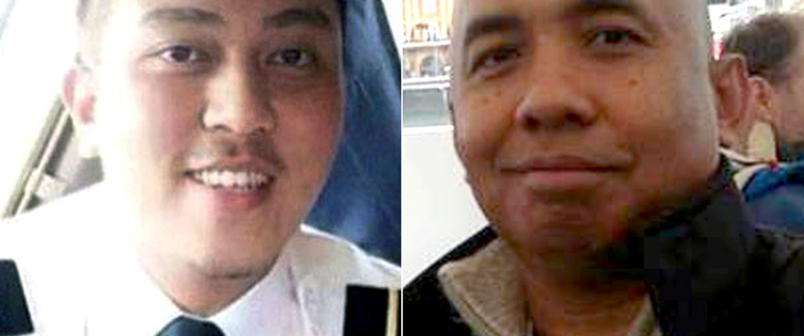 PHOTO: Fariq Abdul Hamid and Zaharie Ahmad Shah, pilots of Malaysia Airlines flight MH370, are seen in these photos posted to their community Facebook pages.