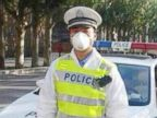 PHOTO: A policeman is shown in a Chinese village in quarantine after a bubonic plague death.