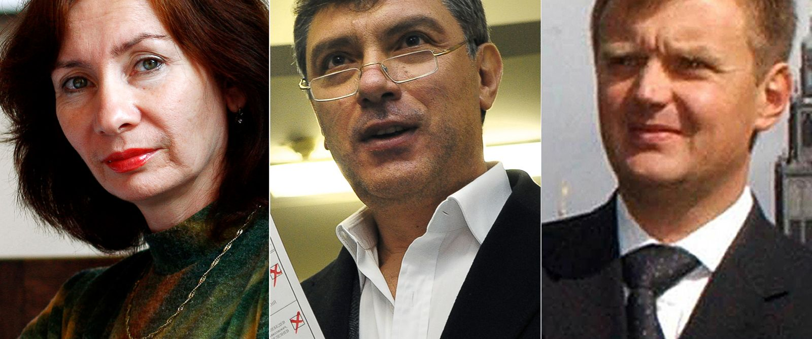 PHOTO: Natalia Estemirova | Boris Nemtsov | Alexander Litvinenko