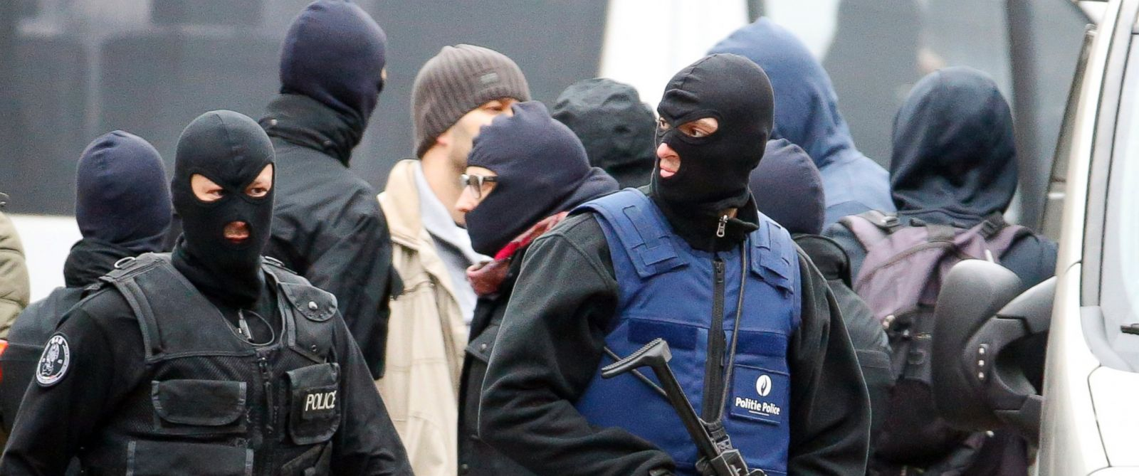 PHOTO: Belgian police are seen in Molenbeek, Belgium, Nov. 16. 2015.