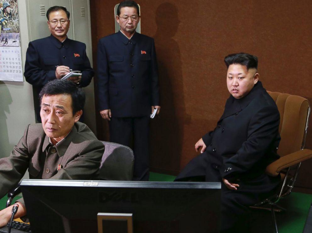 PHOTO: Kim Jong-un visits the Korean April 26 Cartoon Film Studio in this undated photo.
