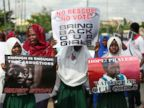 PHOTO: Schoolgirls take part in a protest