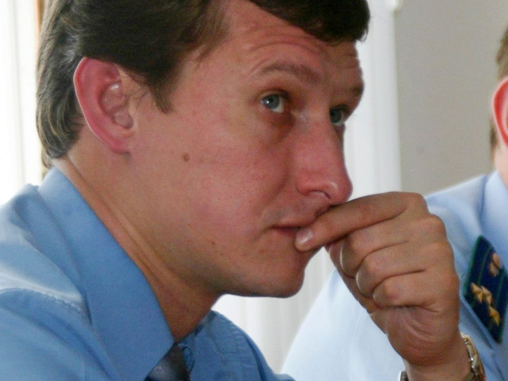 PHOTO: Lawyer Stanislav Markelov sits during court hearings in Grozny, in this Sept.14, 2007 file photo.