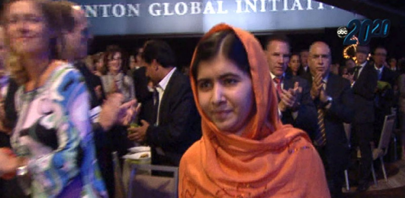 PHOTO: Malala Yousafzai is seen in the crowd at the Global Initiative meeting, Oct . 10, 2013.
