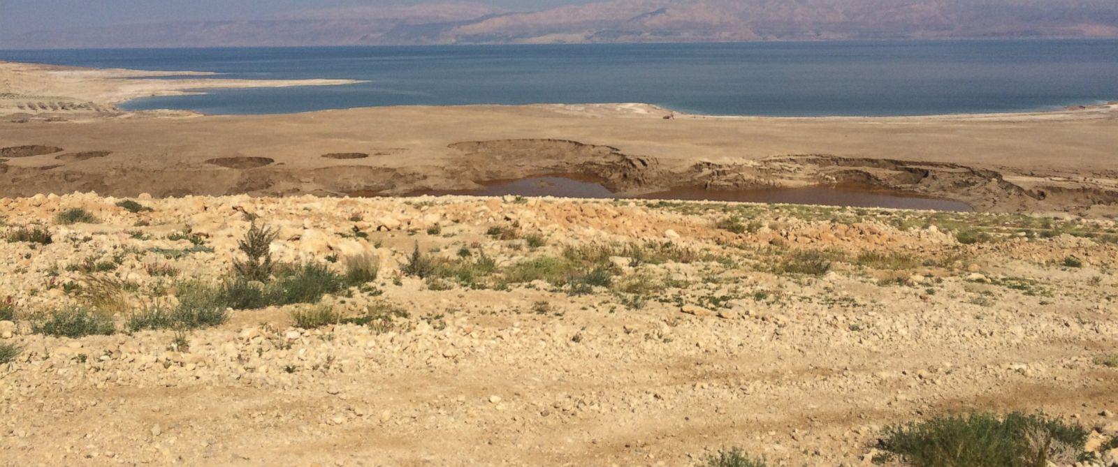 PHOTO: Sinkholes in the Dead Sea.