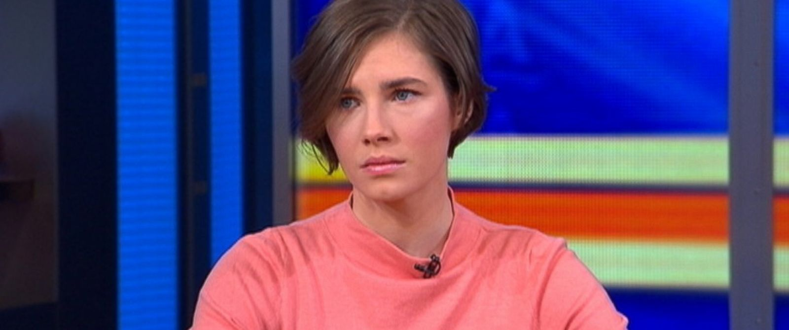 """PHOTO: Amanda Knox talks with """"Good Morning America"""" about her recent conviction, Jan. 31, 2014, in New York CIty."""