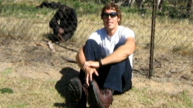 PHOTO: Andrew Oberle, a 26-year-old Texas graduate student remains in critical condition after the chimpanzees he was working to protect turned on him violently in South Africa.