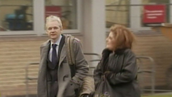 VIDEO: Julian Assange appears in a London court for an extradition hearing.