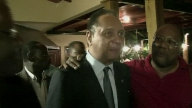 VIDEO: Once-feared dictator Jean-Claude Duvalier unexpectedly returns from exile.