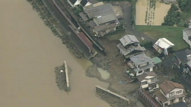 VIDEO: Destructive wind and rain lashes coastal Japan, killing more than 30 people.