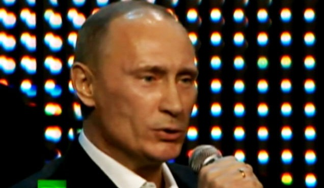 Video: Putin sings Blueberry Hill.