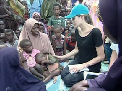 VIDEO: Angelina Jolie visits a refugee camp in Kenya.