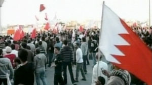 Protests in Manama, Bahrain.