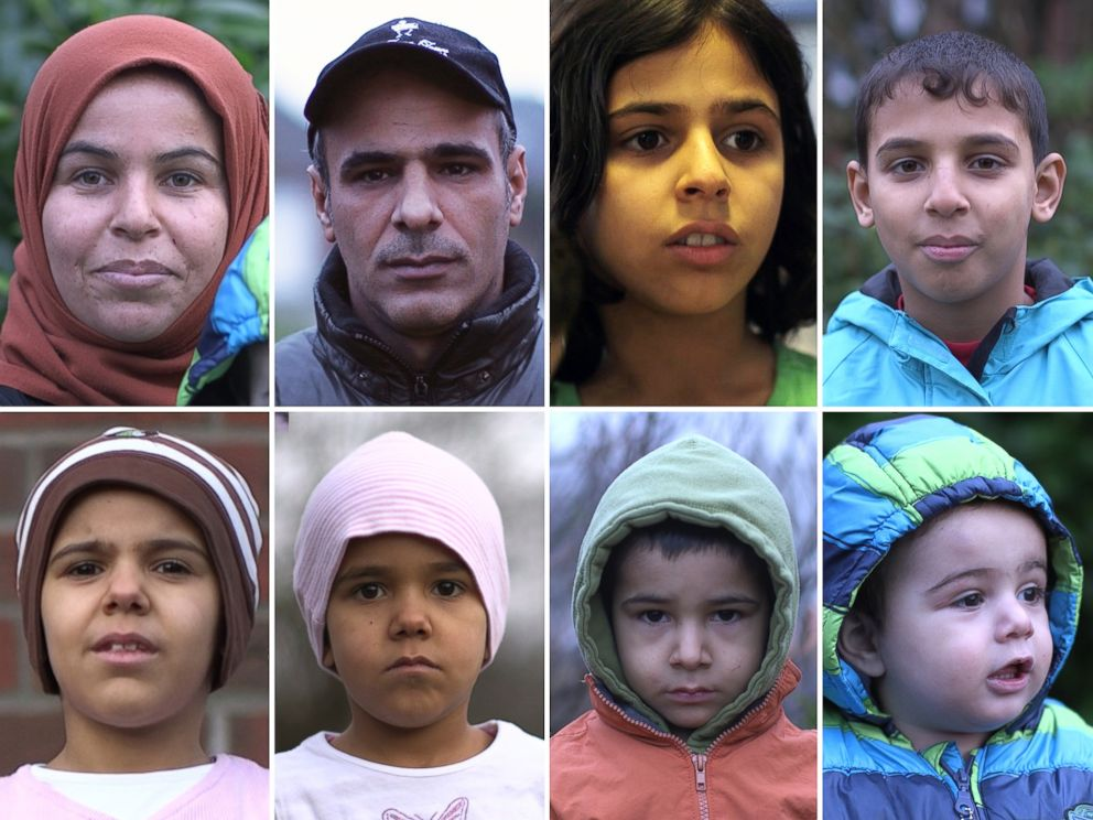 PHOTO: The Hilel Family: 30 year-old Batoul, 31 year-old Laith, 11 year-old Hala, 10 year-old Aday, 7 year-old Tib, 5 year-old Fatima, 3 year-old Houmideh, 14 month-old Fahed.