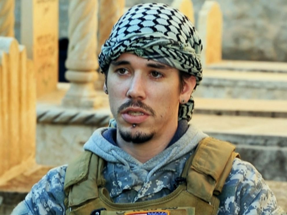 PHOTO: Army veteran Brett, 28, who requested that ABC News not use his last name to protect his family back home, has been fighting against ISIS in Iraq.