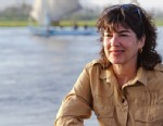 PHOTO: Christiane Amanpour on a felucca boat ride down the Nile to explore the birth of Moses.