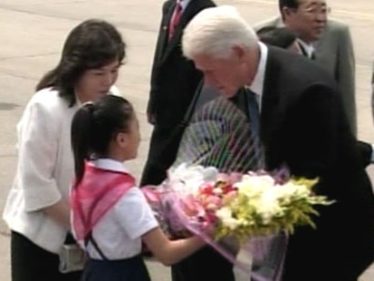VIDEO: Former President Bill Clinton travels to North Korea.