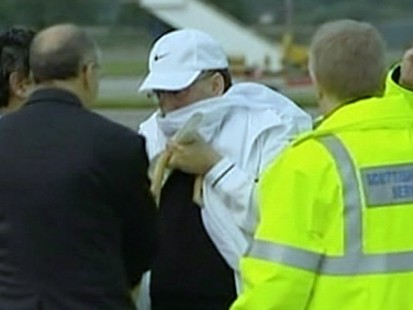 VIDEO: The newly freed bomber receives a heros welcome on his return home to Libya.