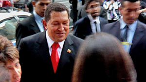 Photo: Chavez strolls through NYC sans security