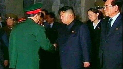abc king jong un mystery woman ll 111221 wblog Reporters Notebook: Where Are Kim Jong Ils Other Sons   and Who Is the Mystery Woman in Mourning?