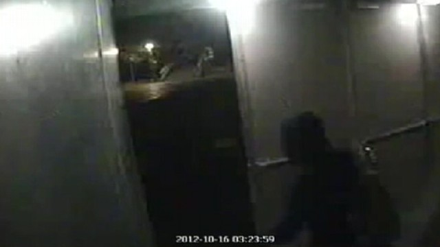 VIDEO: Security camera footage appears to show thieves at Rotterdams Kunsthall museum.